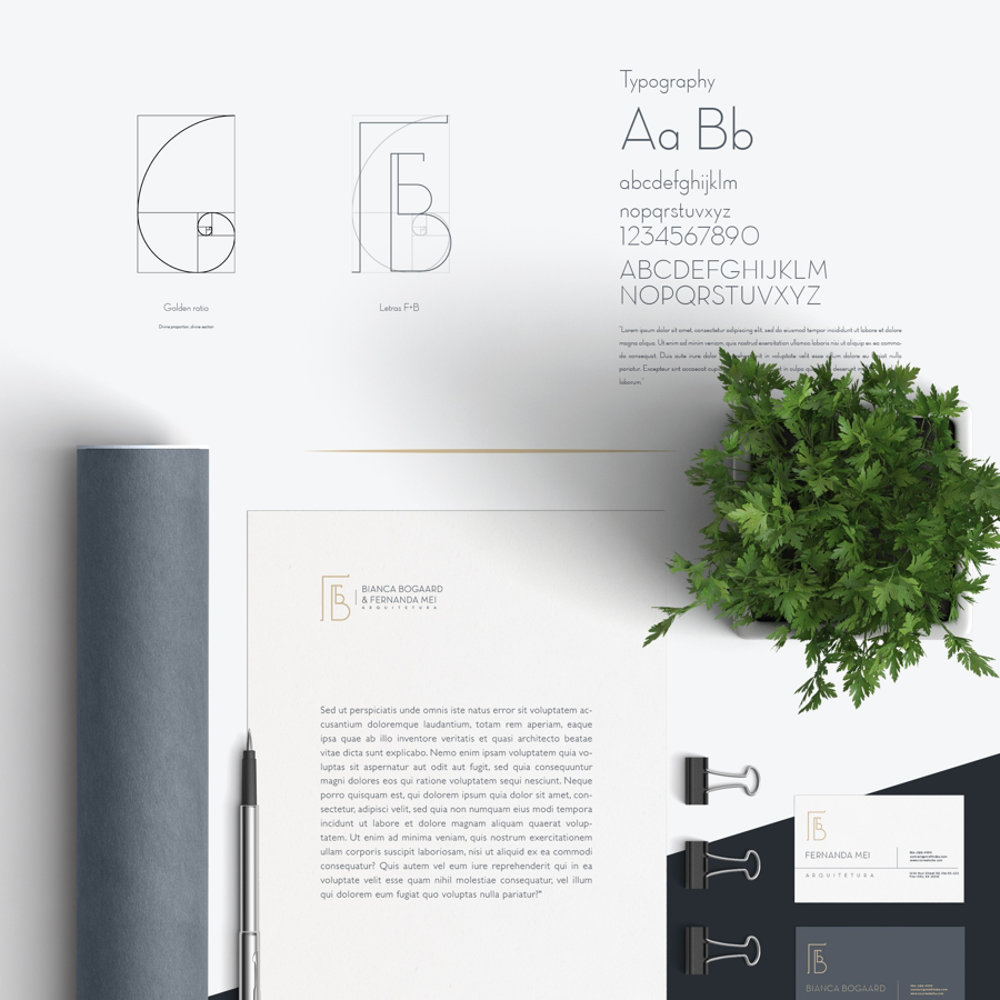 business cards and letterhead with custom branding