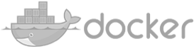 grey docker logo