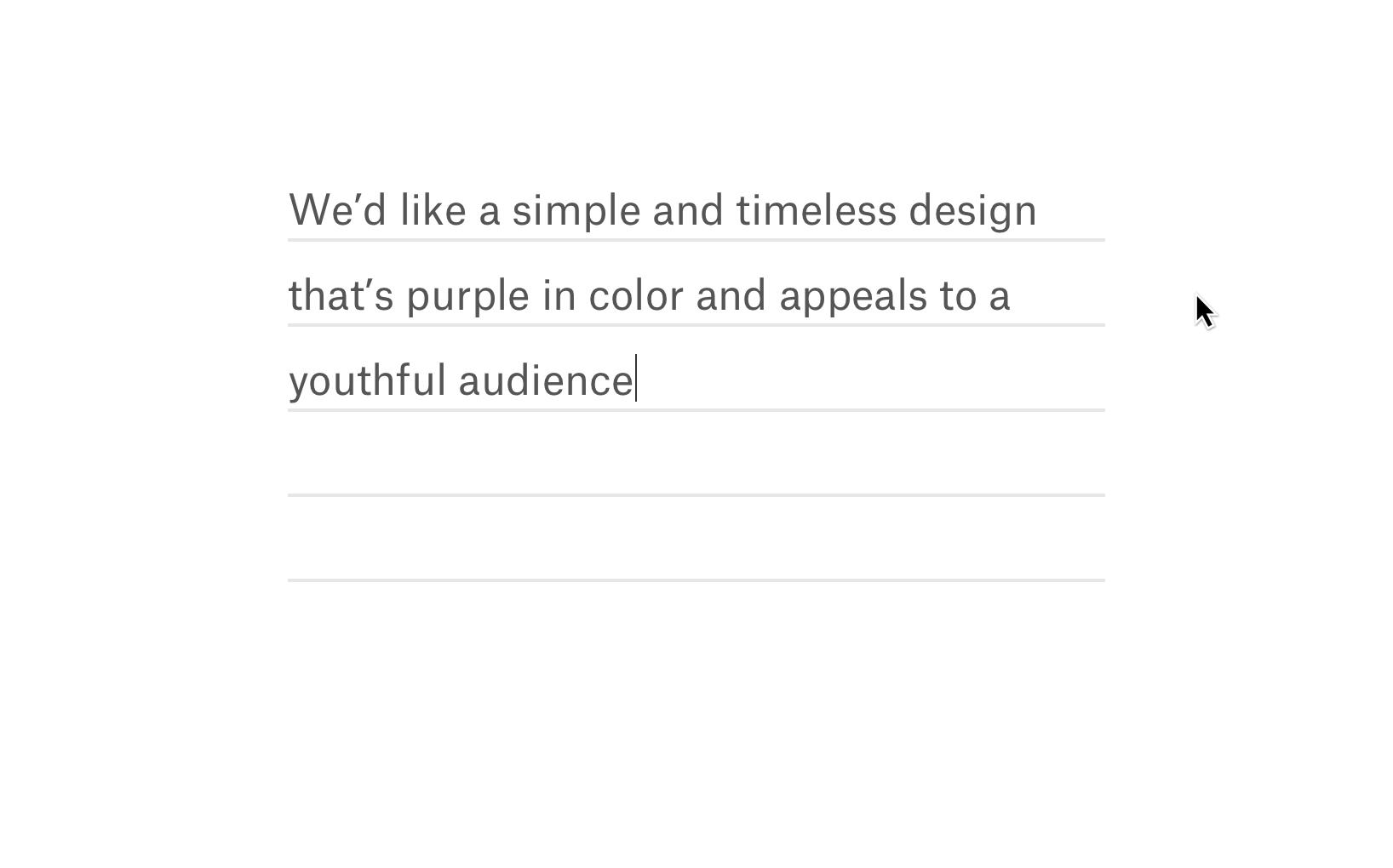Create a design brief.