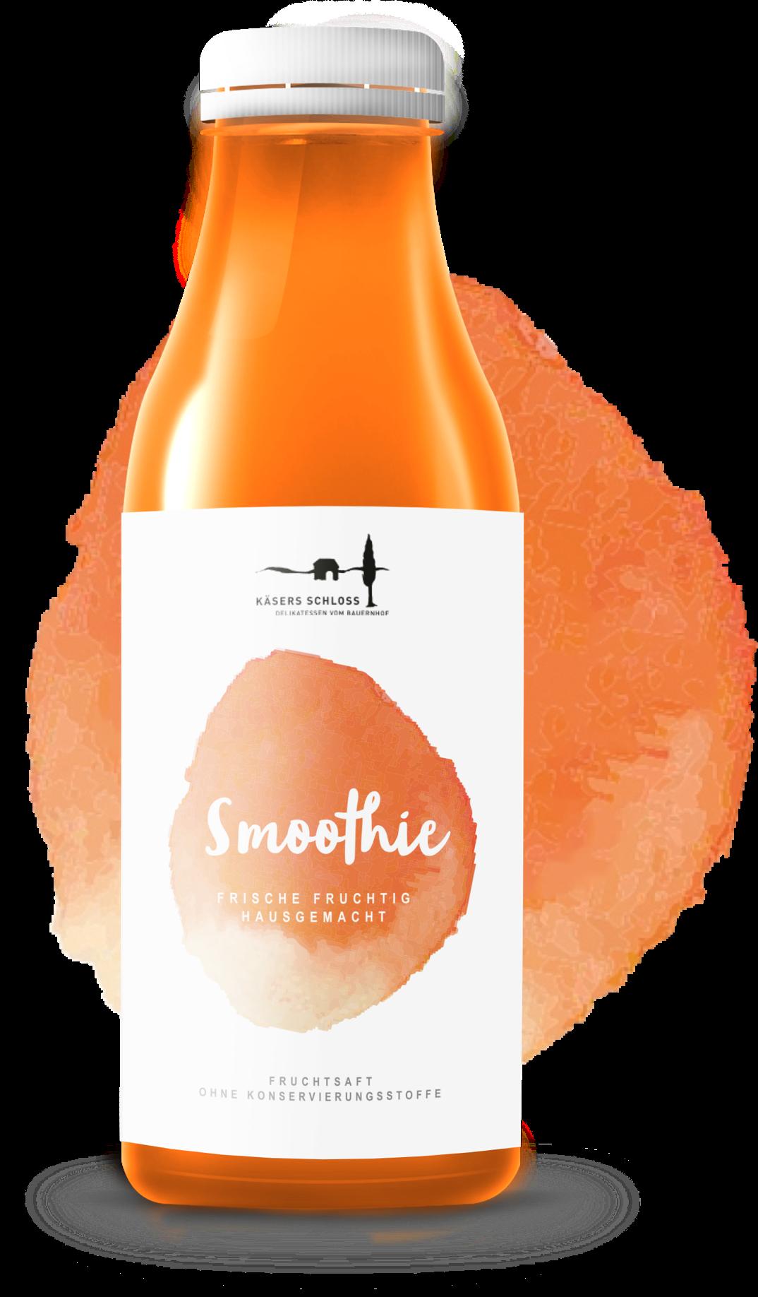 orange smoothie product label