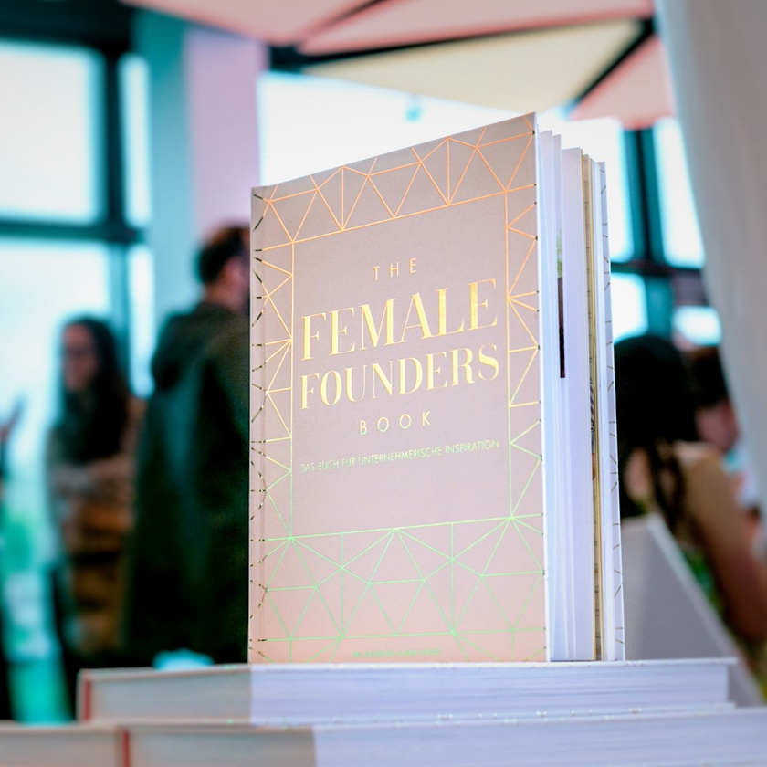 female founders book in a book store