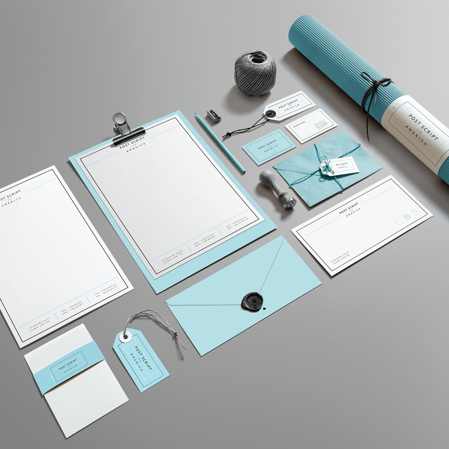 Blue Corporate Stationary Pack By Betty Design: Logos, Web, Graphic Design & More.