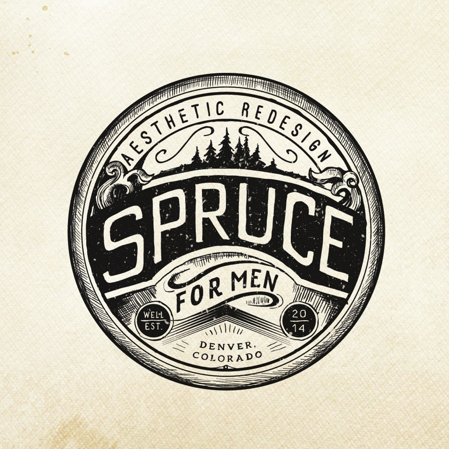 diseño de logo con emblema vintage
