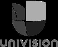 logo gris de univision