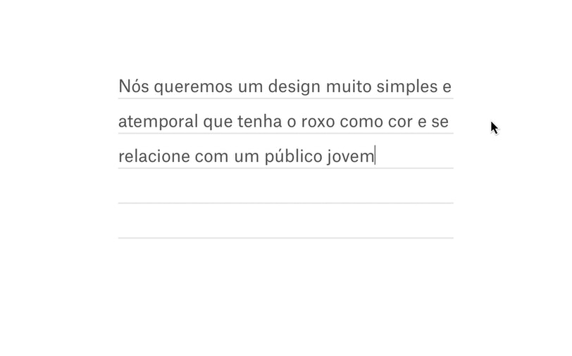 Criar um briefing de design.