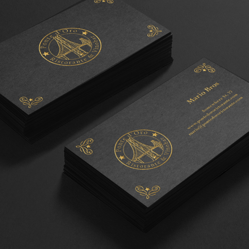 Business card for Ponte d'Ore Ristorante by Prozmajevski