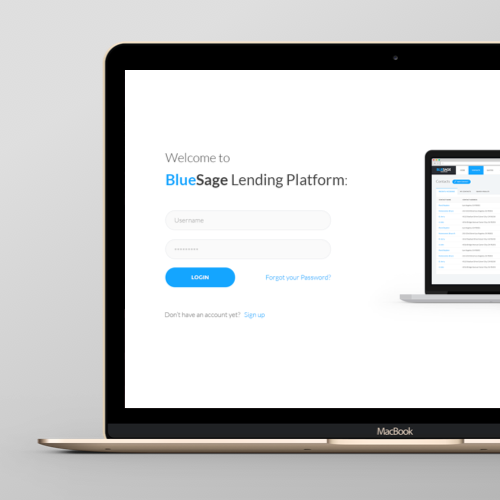 Web page design for BlueSage by Iceberg-Studio