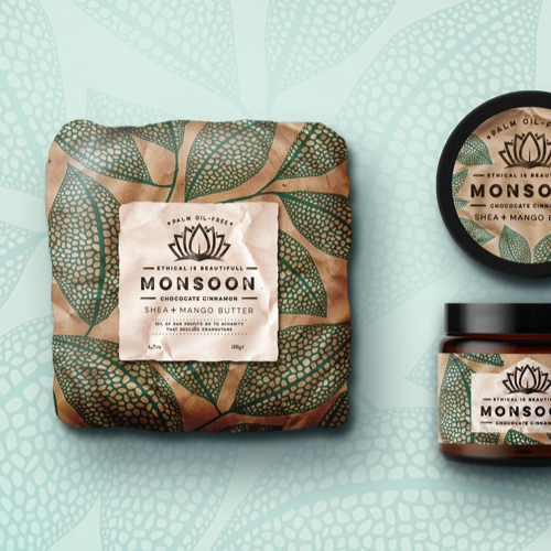 Packaging produitpour Monsoon réalisé par Martis Lupus