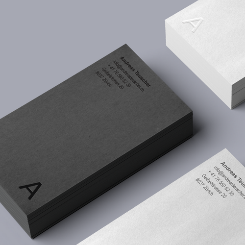 Business card for Andreas Teuscher by Jecakp