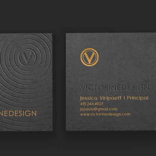Business card for Victorine Design by Prozmajevski