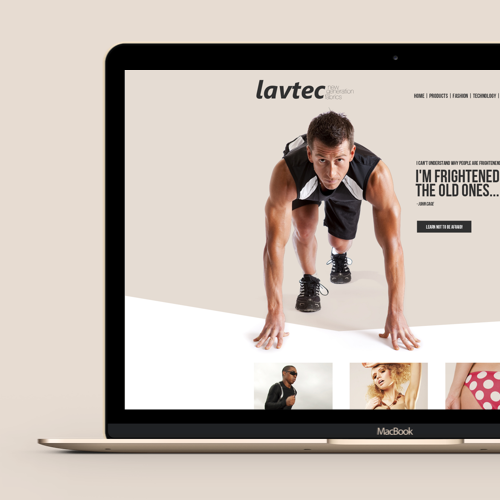 Création de page webpour Lavtec Fabrics réalisé par Grigoris G