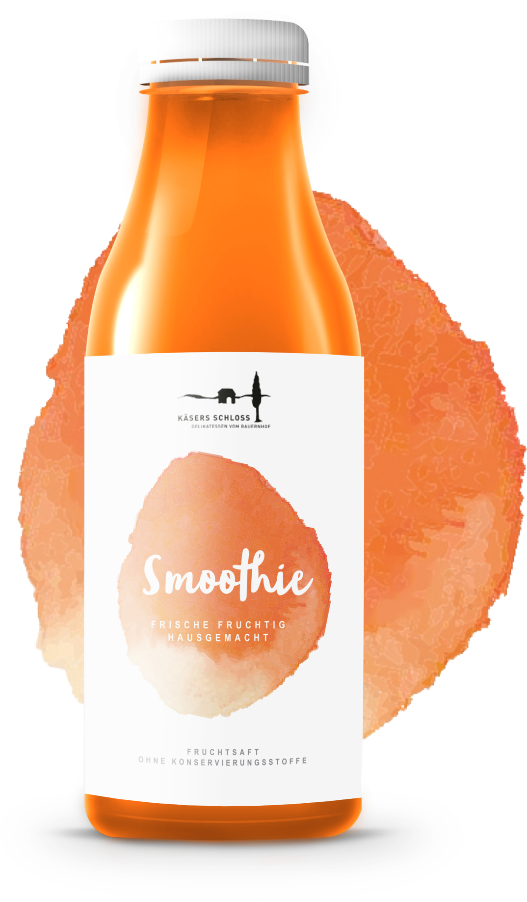 étiquette produit d'un smoothie orange
