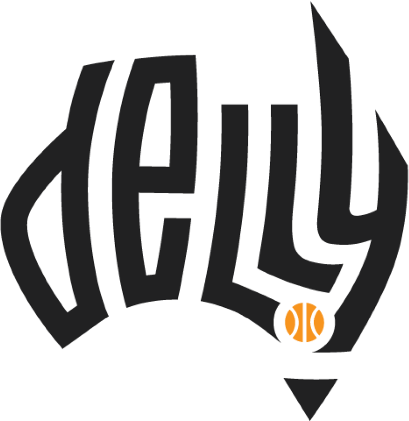design de logotipo de basquete Delly