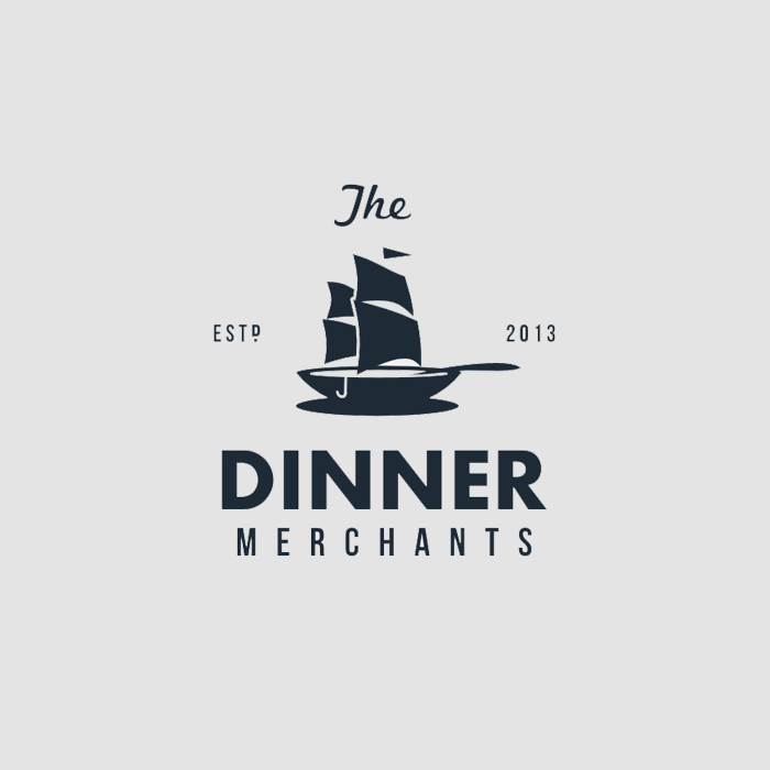Logo design for The Dinner Merchants by Widakk