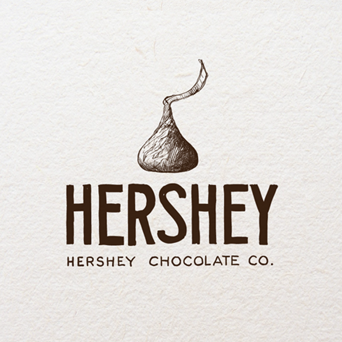 Logo design for Hershey by Agi Amri