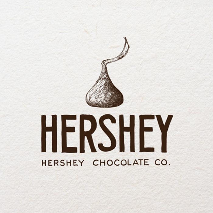 Logo design for Hershey by Agi Amri
