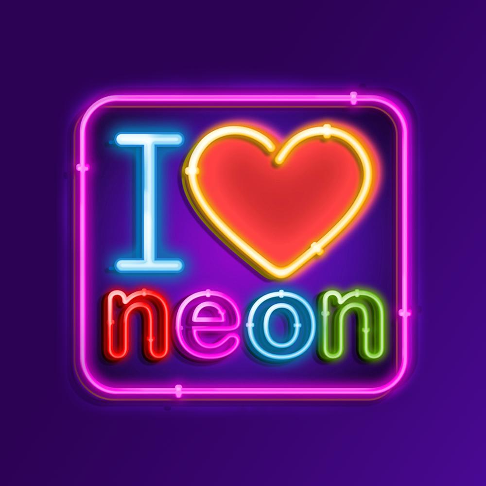 Logo design for I love neon by bo_rad