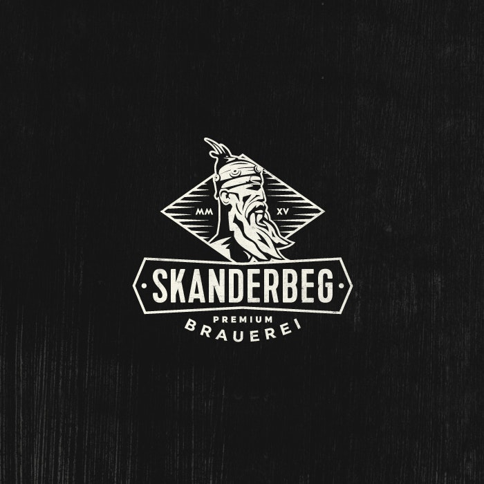 Logo design for Skanderbeg Beer by GT Designs.