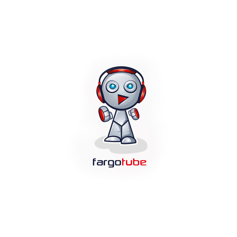 Logo design for FargoTube Robot by ludibes