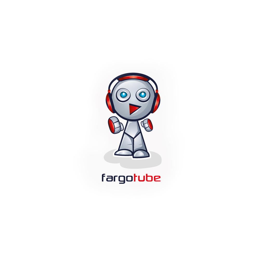 Logo design for FargoTube Robot by ludibes